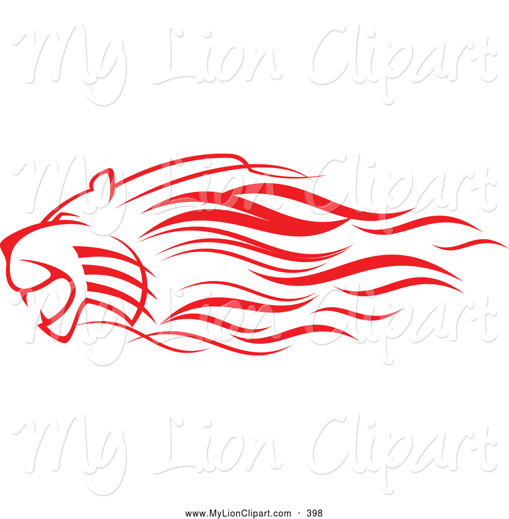 1024x1044 Clipart Of A Red Lion Attacking And Looking Left By Vector