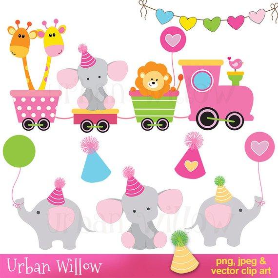 570x570 Digital Clip Art Cute Animals, Clipart Train, Baby Clipart, Baby