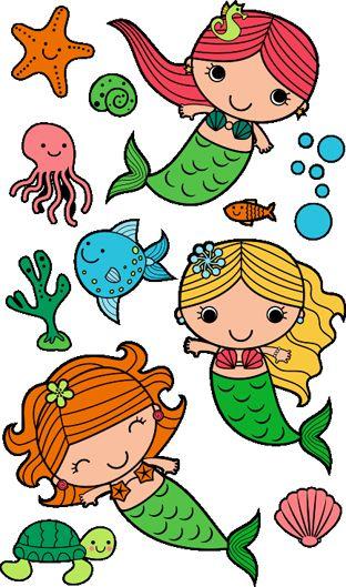 312x529 Simple Clipart Mermaid