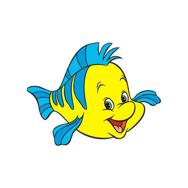 600x600 The Little Mermaid Flounder Clipart