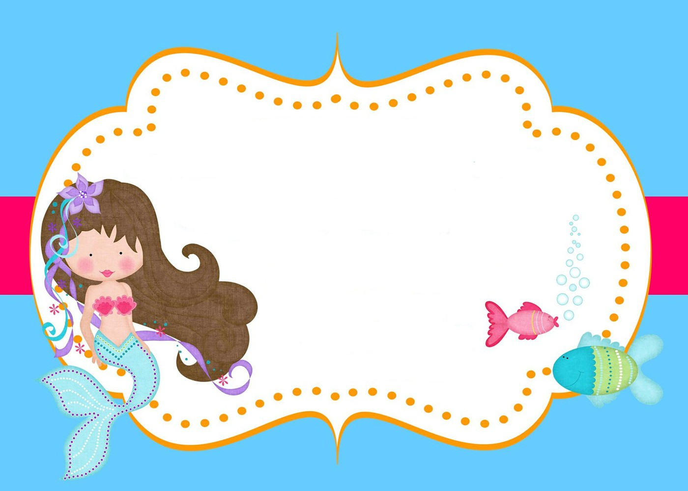 1400x1000 Little Mermaid Free Printable Invitation Templates