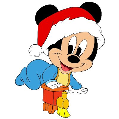 400x400 Baby Mickey Mouse Christmas Clipart