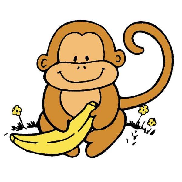 600x600 Image Of Baby Monkey Clipart