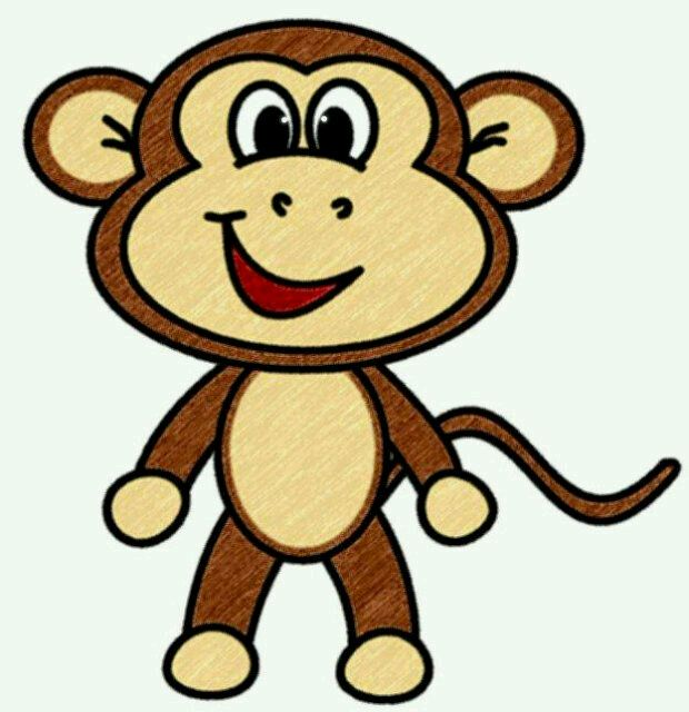 620x640 Image Of Cute Monkey Clipart
