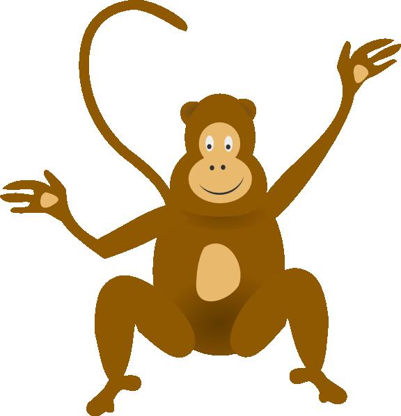 576x598 Monkey Jungle Baboons Baby Monkeys Clip Art
