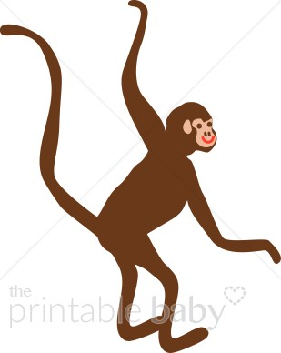 309x388 Shining Design Swinging Monkey Clipart Jungle Baby From Tree Clip