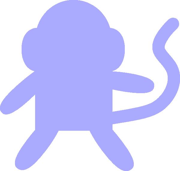 600x569 Baby Blue Monkey Clip Art
