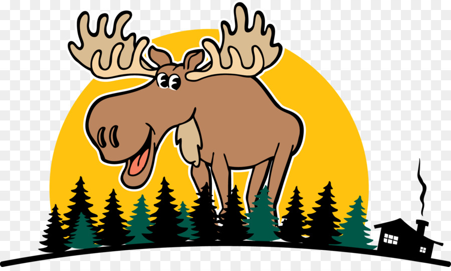 900x540 Bullwinkle J. Moose Deer Drawing Clip Art