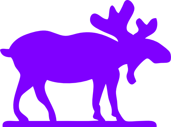 600x445 Purple Moose Clip Art