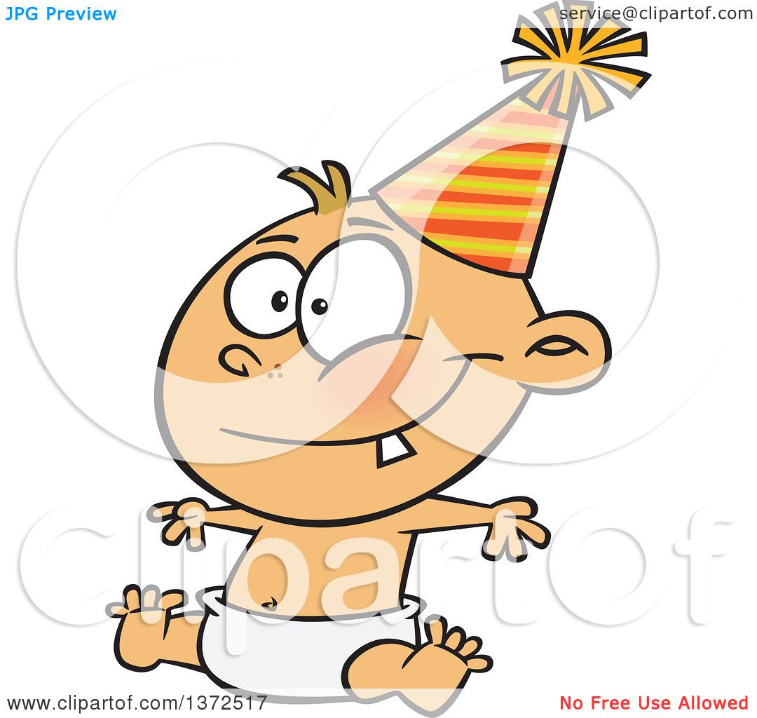 1080x1024 Cartoon Clipart Of Happy New Year Caucasian Baby Sitting In