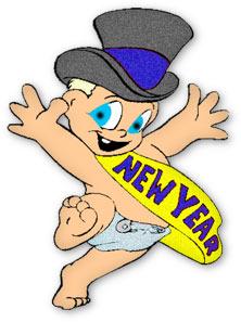 222x297 New Year Baby Clip Art Happy Holidays!