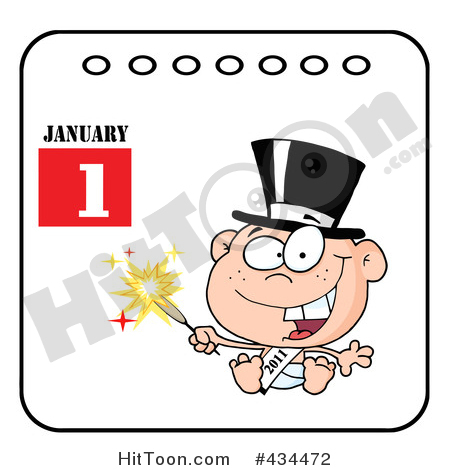 450x470 New Year Baby Clipart