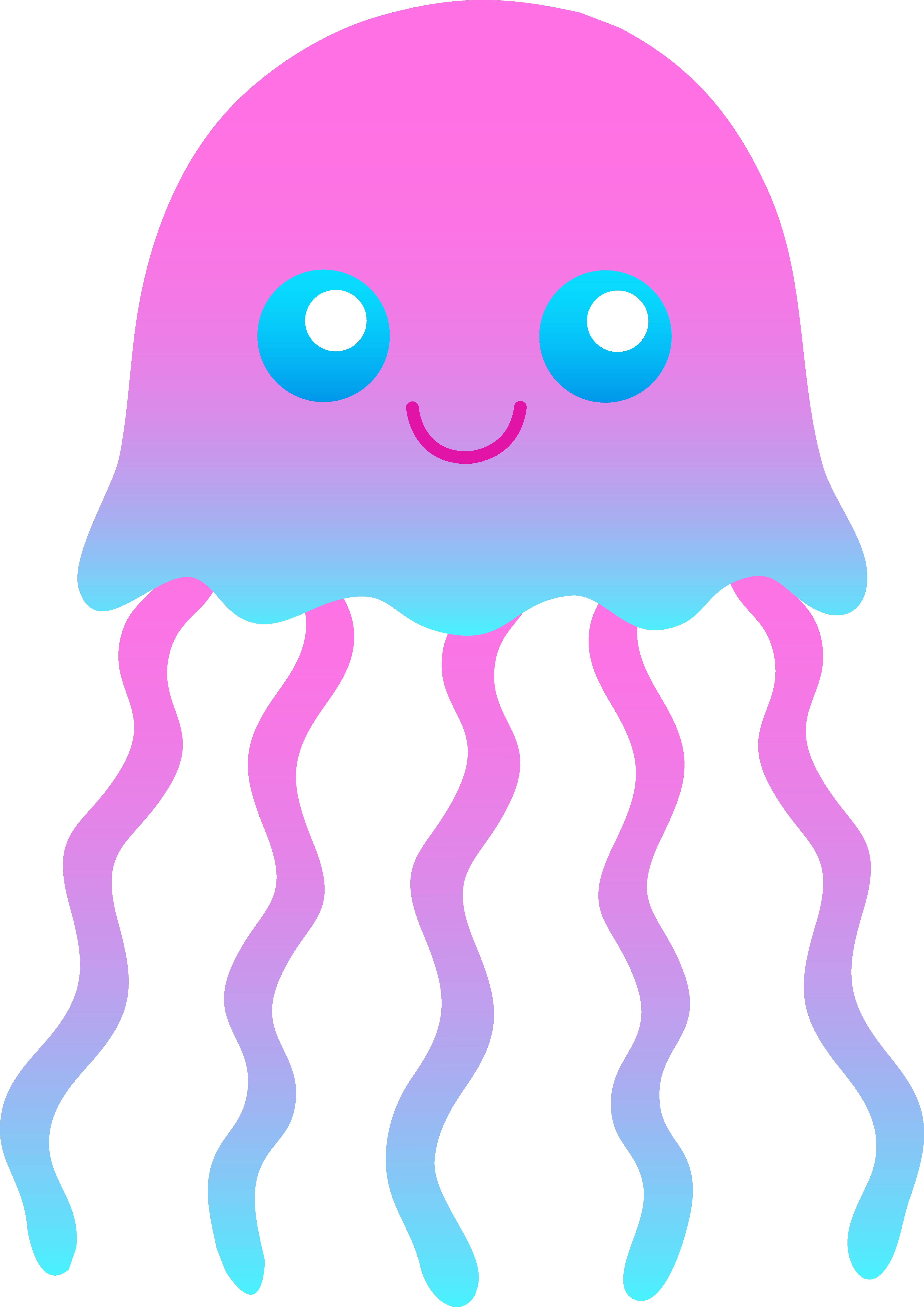 5204x7364 Cute Jellyfish Clipart Clipart Panda