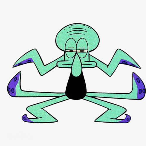 500x500 Lovely Dance Octopus Brother, Cartoon, Sponge Baby, Squidward Png
