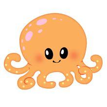 220x220 Baby Octopus Clipart
