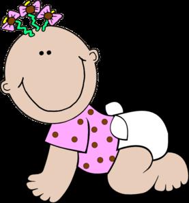 277x297 Baby Girl Polka Dot Clip Art