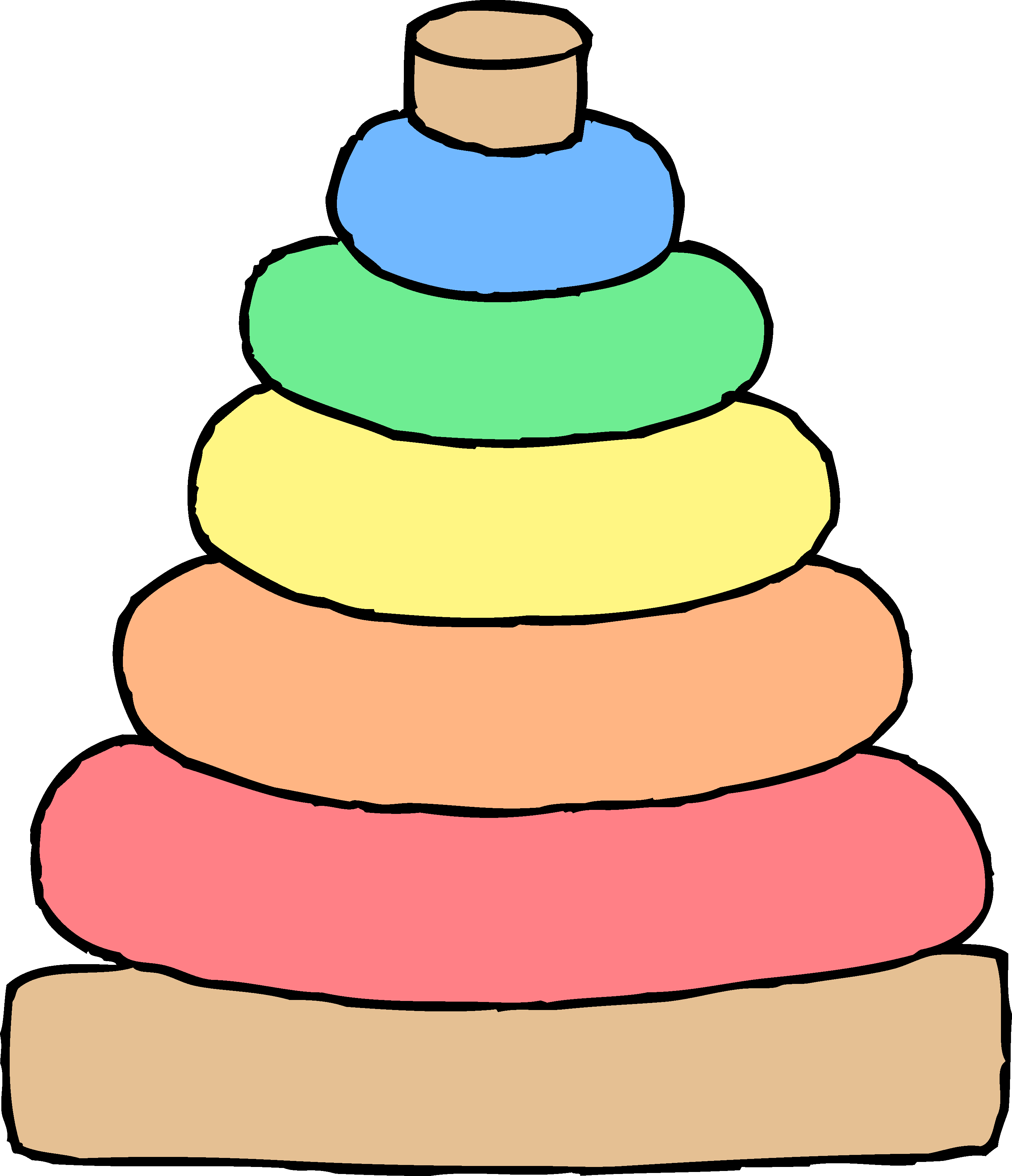 3022x3514 Pretentious Baby Toys Clip Art Stacking Toy Clipart Free