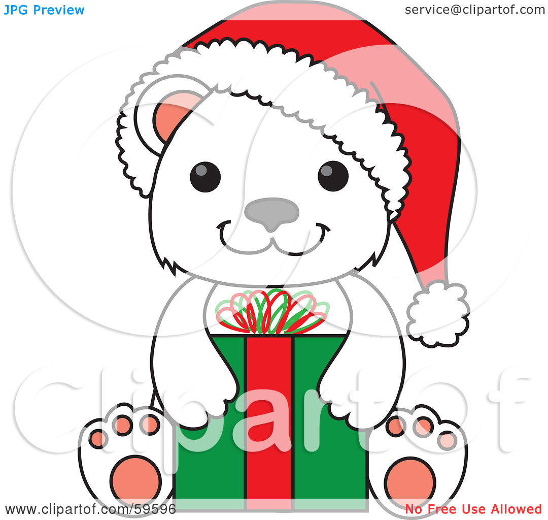 Baby Polar Bear Clipart