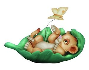 300x235 Precious Moments Disney Baby Simba Laying In Leaf Figurine, New