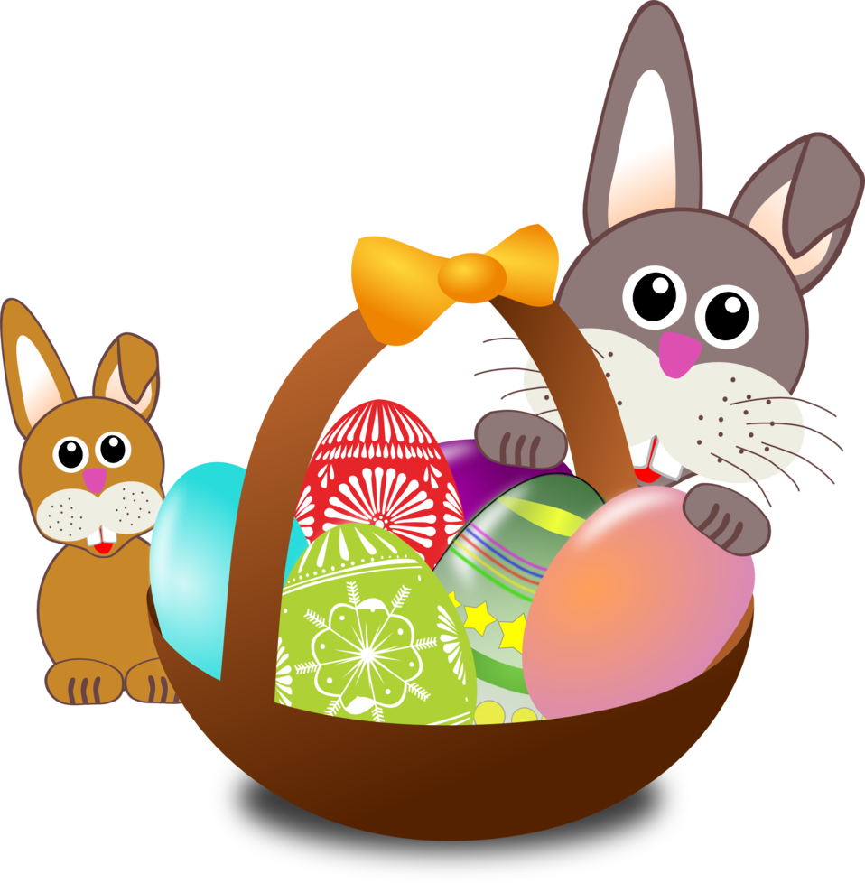 958x978 Public Domain Clip Art Image Funny Bunny Face With Easter Eggs