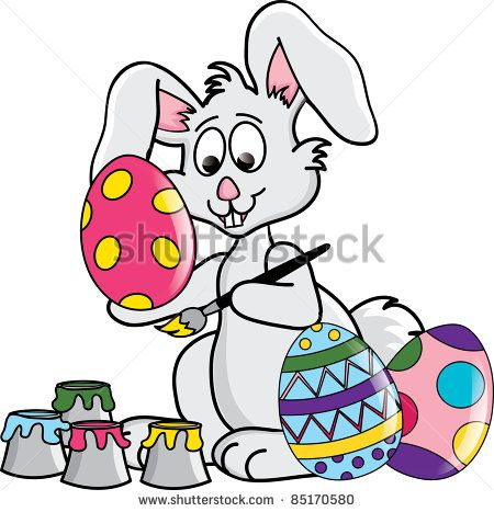 450x467 Simple Easter Rabbit Clipart