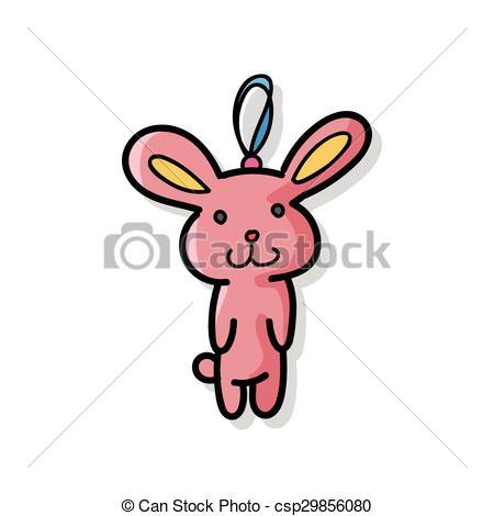 450x470 Baby Rabbit Doodle Vector