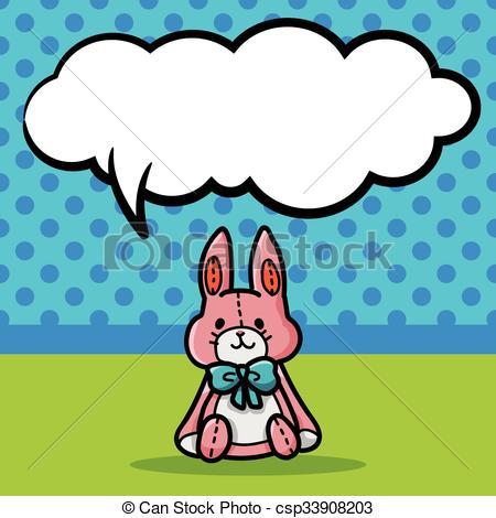 450x470 Baby Rabbit Doodle Vector Clipart