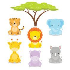 236x236 Free Baby Animal Clip Art Paper Parties Baby Safari Clip Art