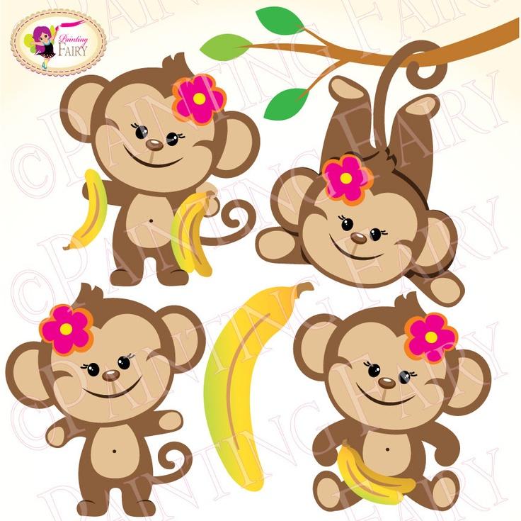 736x735 Safari Clipart Baby Monkey