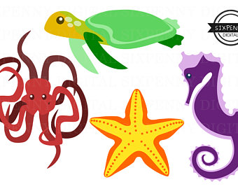 340x270 Seahorse Clipart Commercial Use Colorful Digital Art Seahorses