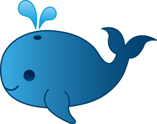 550x437 Baby Whale Clipart