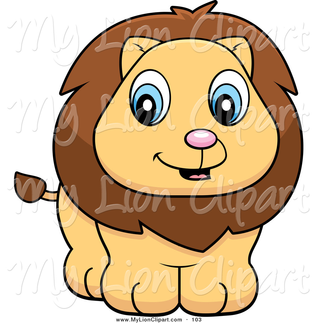 1024x1044 Clipart Of A Cute Baby Lion Cub Smiling By Cory Thoman