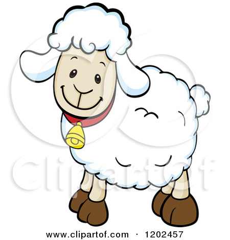 450x470 Happy Sheep Clipart. Top Clipart Of A Happy Sheep Eating A Clover