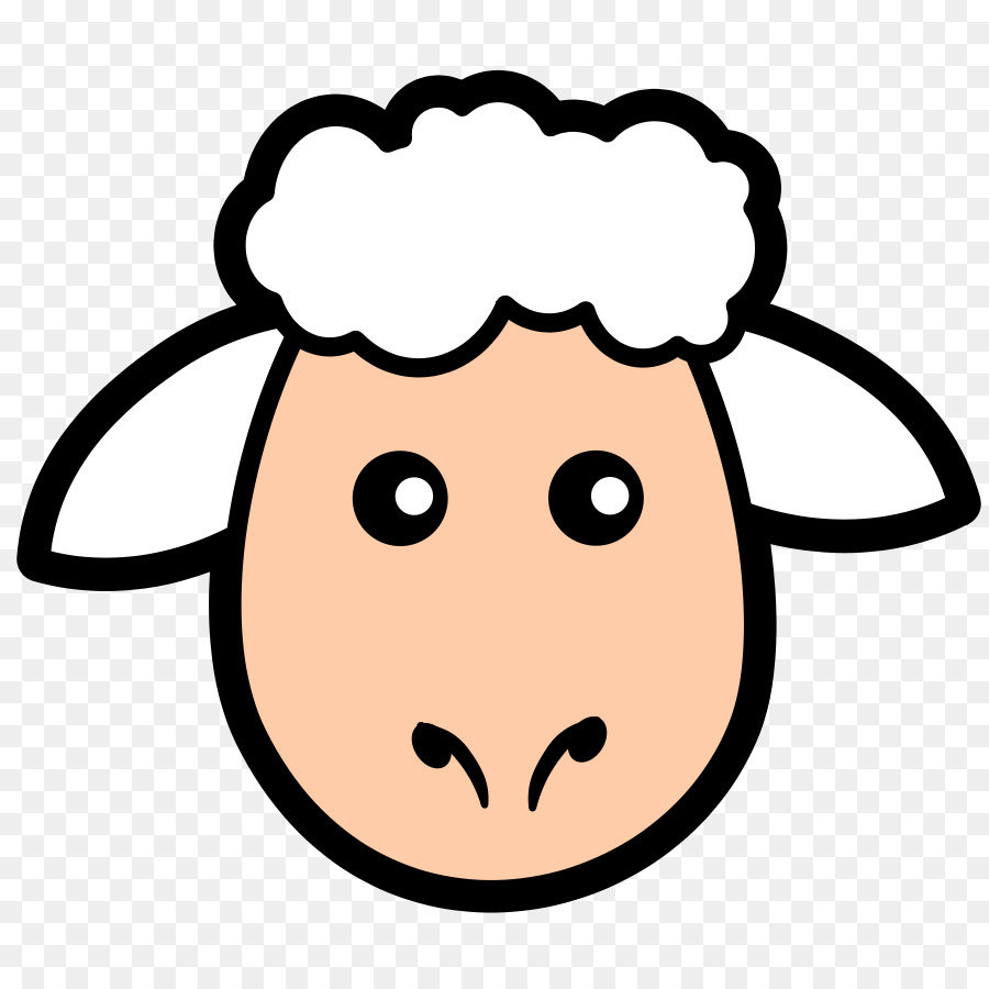 900x900 Sheep Lamb And Mutton Face Clip Art