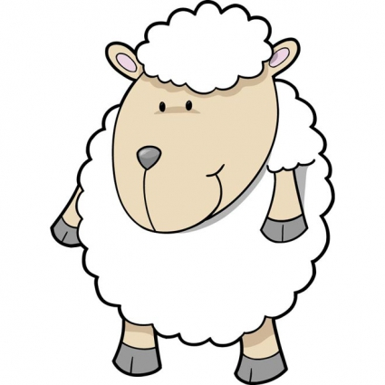 425x425 Collection Of Baby Sheep Drawing High Quality, Free Cliparts