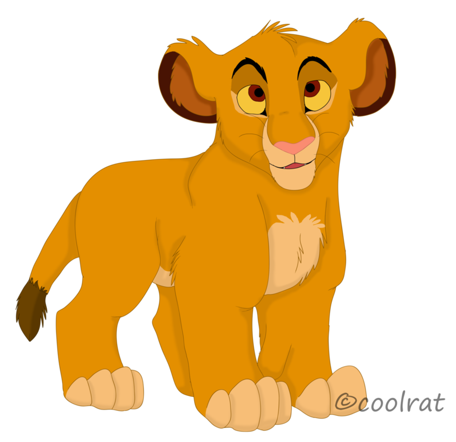 907x880 Baby Simba By Coolrat