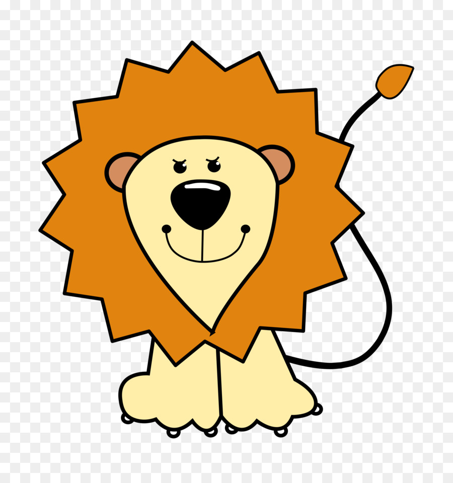 900x960 Baby Lions Cartoon Drawing Clip Art