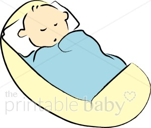 300x256 Baby In Yellow Cradle Clipart Sleeping Baby Clipart