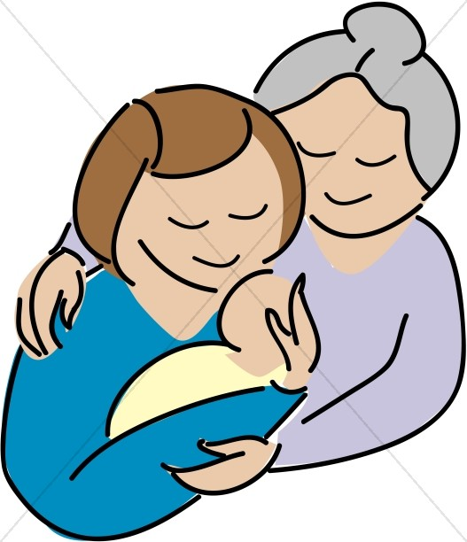 527x612 Mother Holding Sleeping Baby Mother's Day Clipart