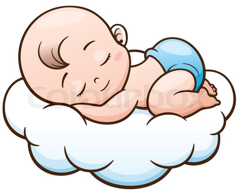 800x650 Sleeping Baby Cartoon