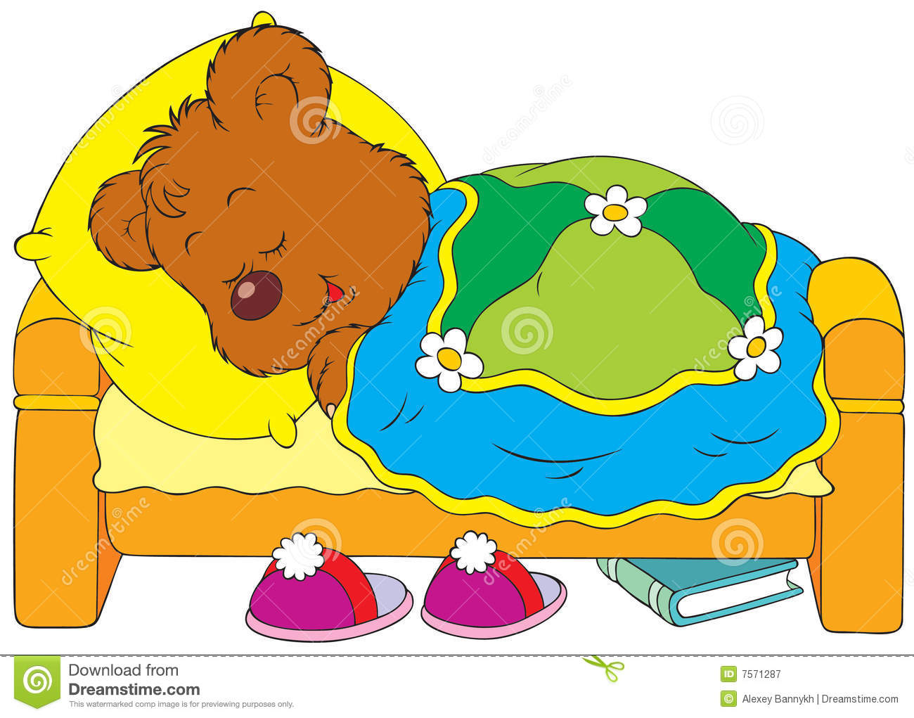 1300x1021 Sleeping Teddy Bear Clip Art