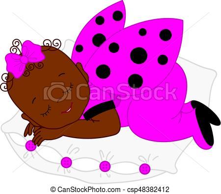 450x396 Vector African American Cute Baby Girl In Ladybug Costume