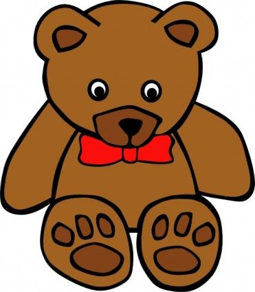 371x425 Simple Teddy Bear Clip Art. Add To A Mason Jar Vase For Baby