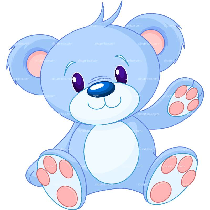 800x800 Blue Teddy Bear Clip Art Dark Blue Clipart Teddy Bear 1