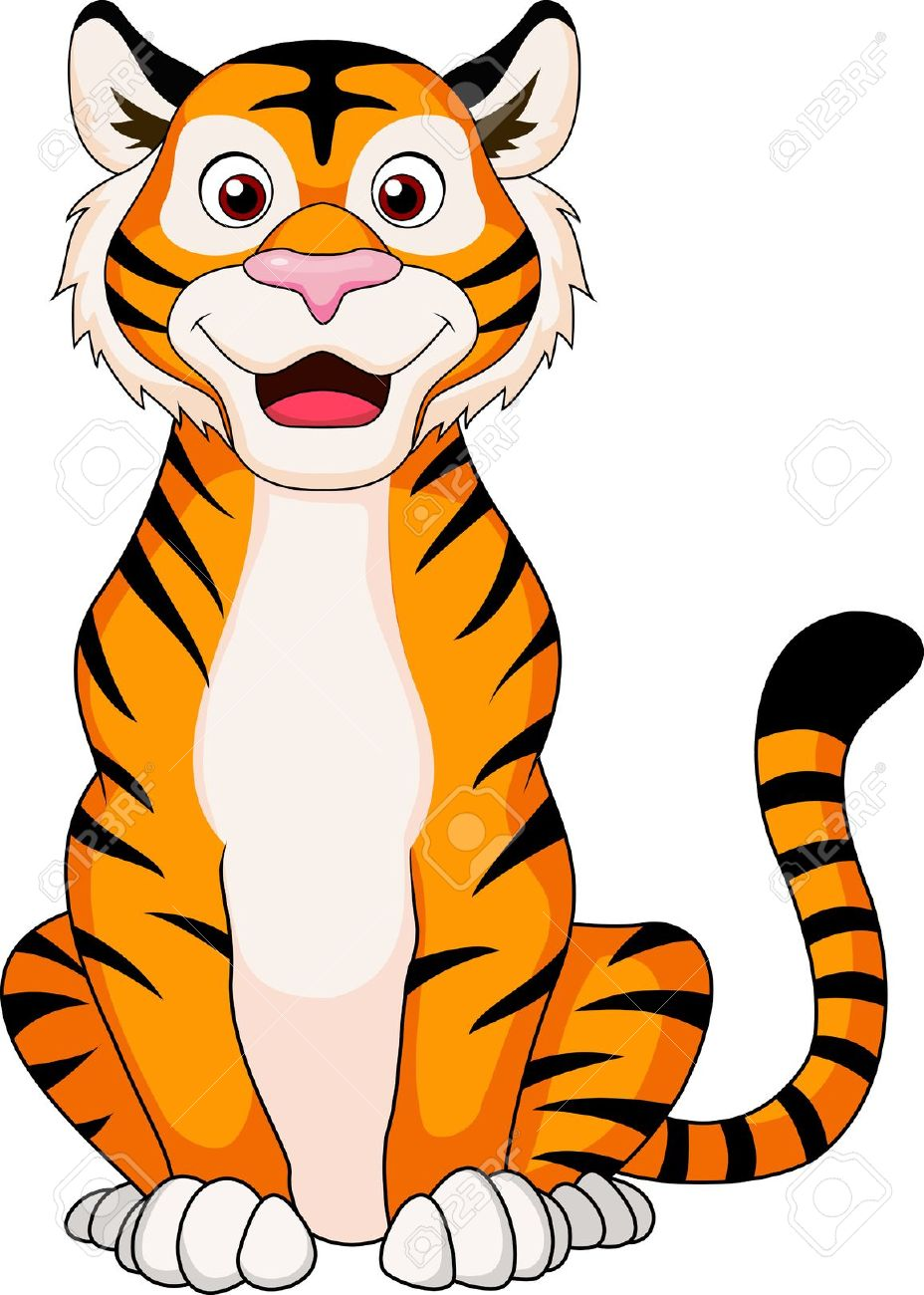 928x1300 Clip Art Cartoon Tiger Clip Art
