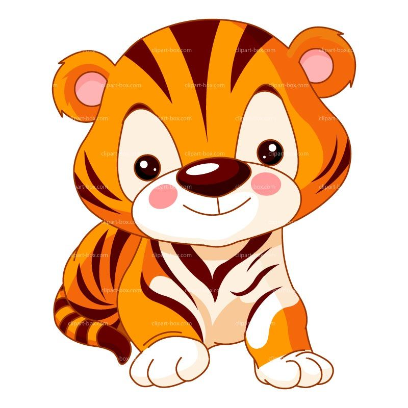 800x800 Cute Tiger Clip Art Clipart Cute Baby Tiger Royalty Free