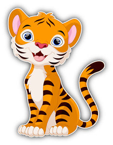 234x300 Funny Tiger Baby Cartoon Car Bumper Sticker Decal 4'' X 5'' Ebay