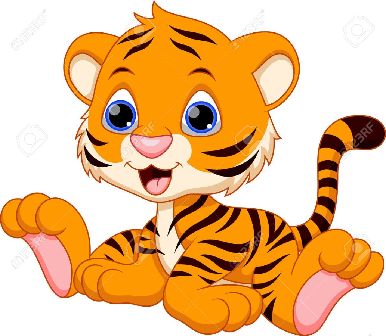 1300x1132 Gallery Cartoon Baby Tiger,