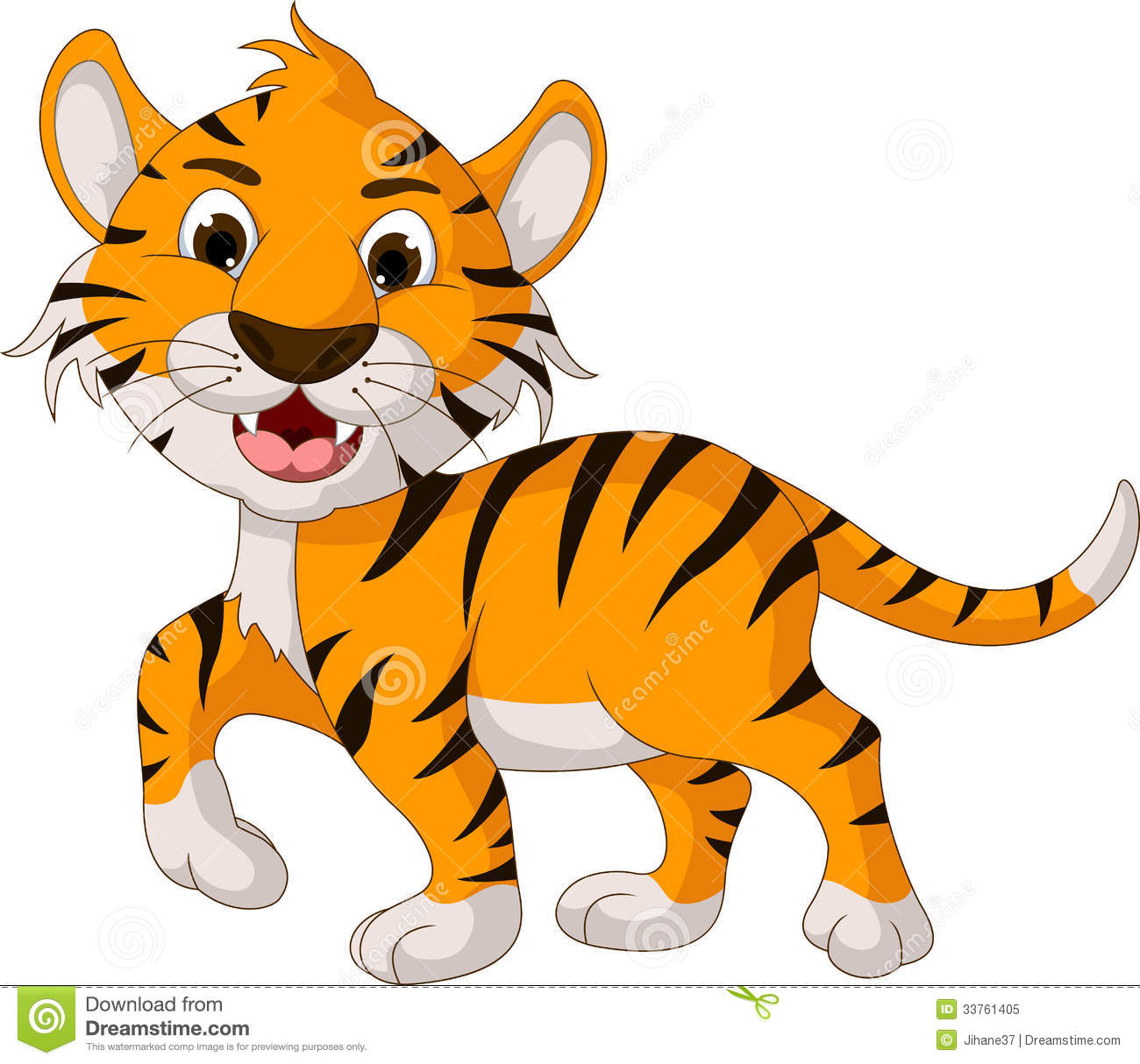1300x1214 Graceful Tiger Cartoon Images 18 Funny Walking Illustration