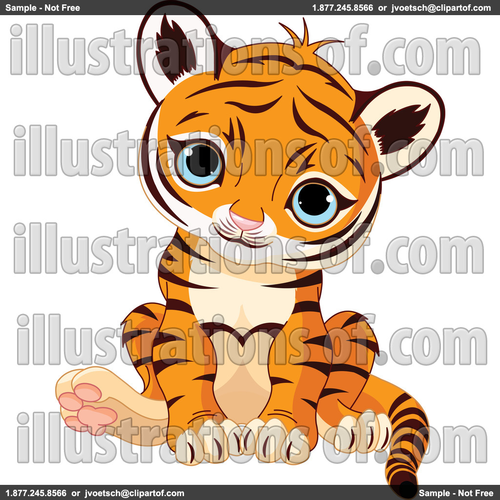 1024x1024 Baby Tiger Clipart Black And White Clipart Panda